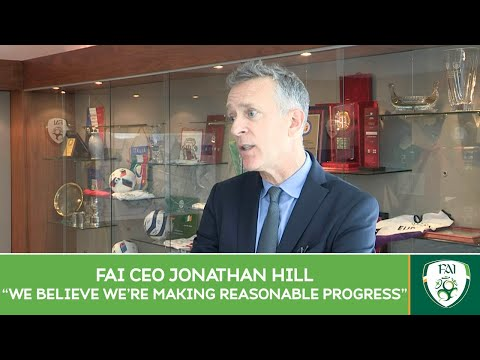 FAI CEO Jonathan Hill speaks after the Football Association of Ireland AGM