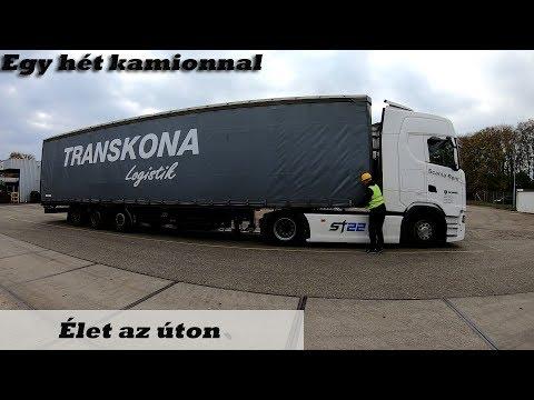 A kamionos egy hete Élet az úton
