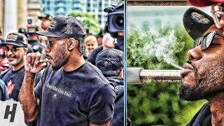 Kawhi Leonard Smoking a Cigar at 2019 Toronto Raptors Championship Parade