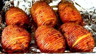 How to make HASSELBACK POTATOES recipe (Baked Potato)