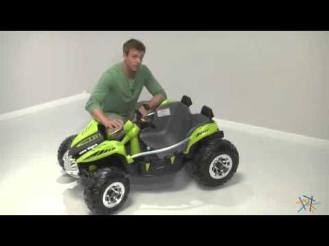 Fisher-Price Power Wheels Battery Operated Dune Racer Green Riding Toy - Product Review Video