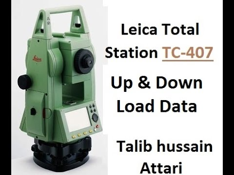 Leica TC-407 Up & Down Load Data