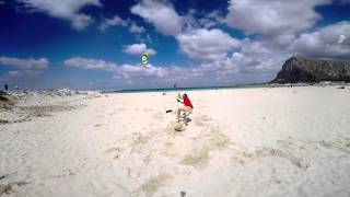 Funny kite accident - Come NON far volare un aquilone da trazione...