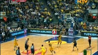 Bogdanovic Orta sahadan 3 Sayılık Basket Fenerbahçe Ülker vs Maccabi Electra