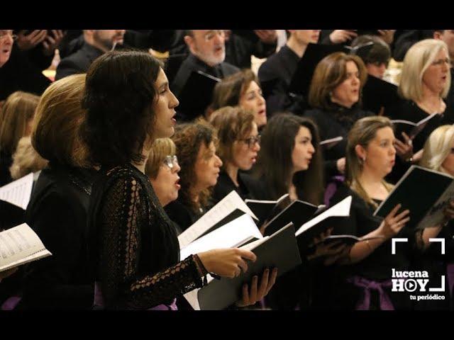 VÍDEO: Concierto de Cuaresma del Coro del Conservatorio de Lucena y la Coral San Sebastián, de Antequera