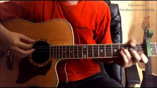 "Chasing Pavements Chords ""Adele"" ChordsWorld.com Guitar Tutorial"