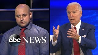 Joe Biden pressed about his plan for tax cuts for the middle class at ABC town hall