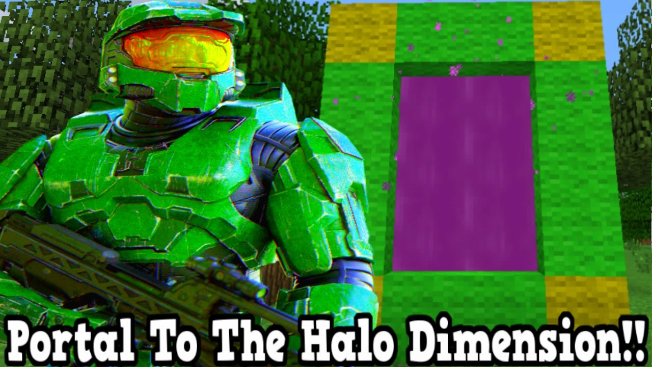 Minecraft How To Make A Portal To The Halo Dimension - Halo Dimension Showcase!!!