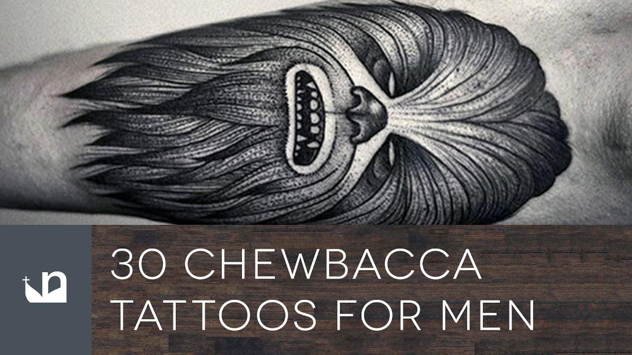 30 Chewbacca Tattoo Designs For Men – Star Wars Ink Ideas