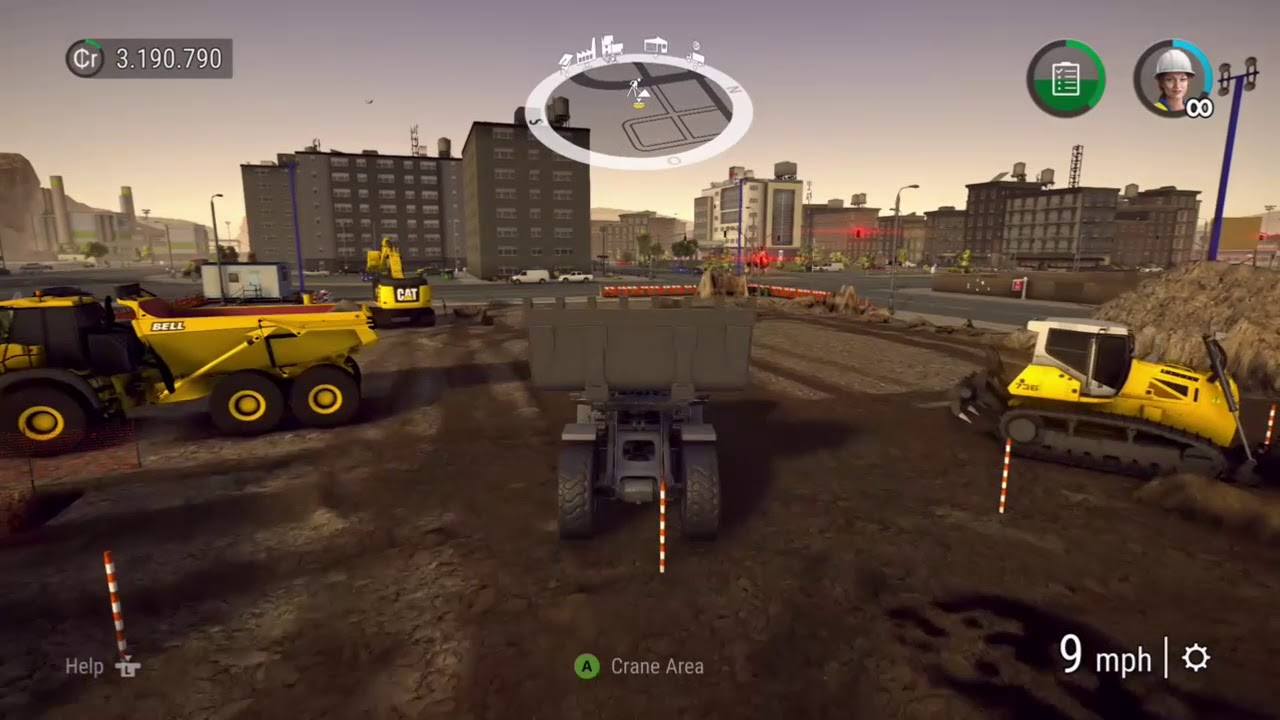 Construction Sim Mod Review #1 - Big Crane! by Young Gamer