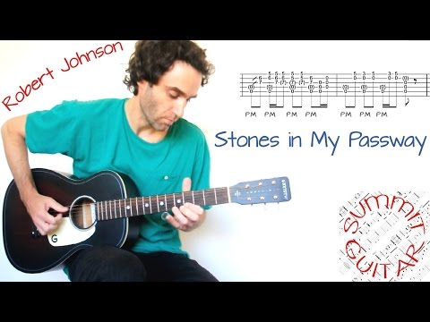 Robert Johnson - Stones in My Passway / Terraplane Blues - Guitar lesson / tutorial / cover with tab