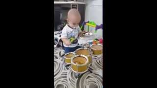 1 Year Old Baby Drummer