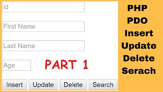 PHP PDO  : How To Insert Update Delete Search Data In MySQL Using PDO In PHP [ with source code ] 1
