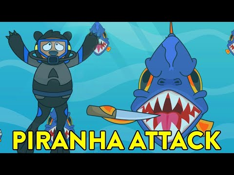 What If You Were Attacked By A School of Fish? | Educational Animated Cartoon