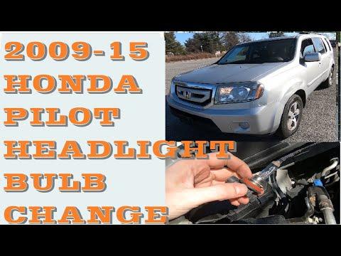 How to replace change Headlight bulbs in 2009-2015 Honda Pilot