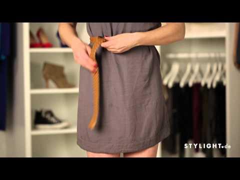 Lange Gürtel cool stylen » Tipps und Tricks in unserem Mode-Tutorial | STYLIGHT How To Wear