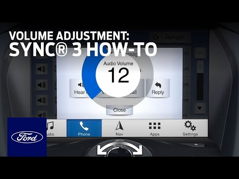 How To Use Sync 3 Volume Adjustment Sync 3 How To Ford Youtube
