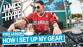 How To Set Up DJ Gear Like James Hype 🔥 Free DJ Tutorial