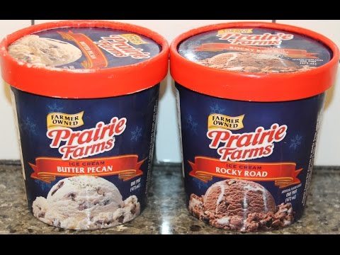 Prairie Farms: Butter Pecan and Rocky Road Ice Cream Review