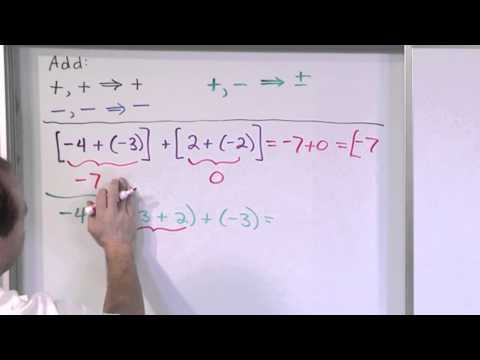 Adding And Subtracting Integers - Order Of Operations