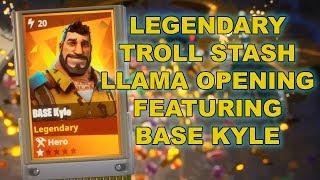 Legendary Troll Stash Llama Opening featuring Base Kyle - Fortnite (Save the World)