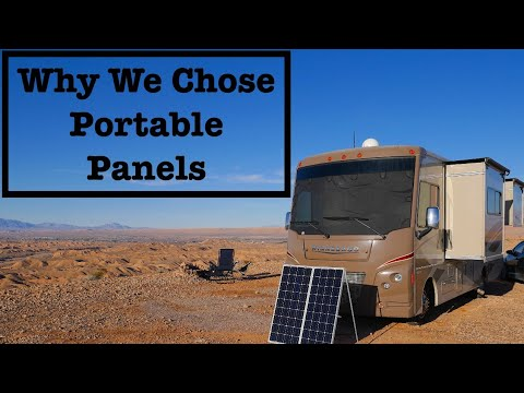 Pros and Cons of Portable Solar Panels Compared to Rooftop Full Time RV Living