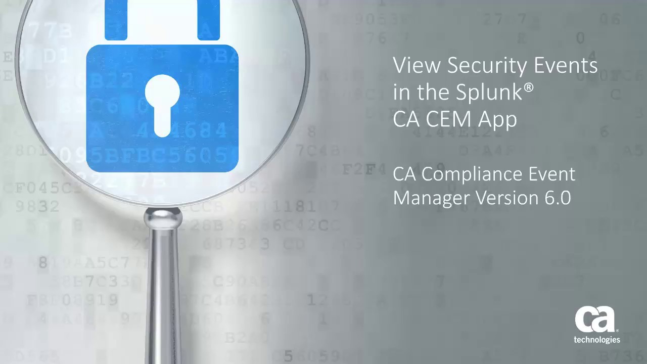 View Security Events in the Splunk® CA CEM App