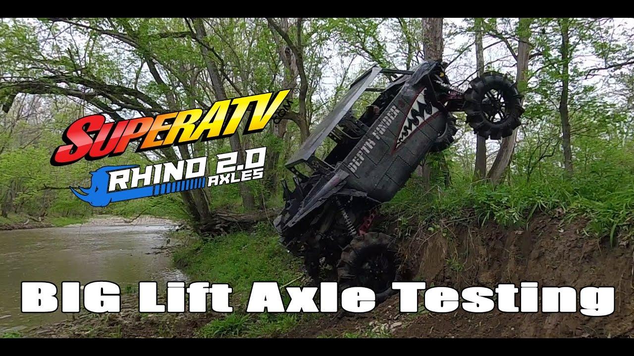SuperATV - Rhino Revolution - Big Lift Axle Testing - Depth Finder