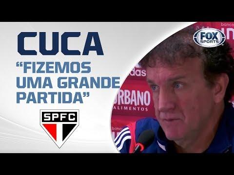 ATHLÉTICO PR 0 X 1 SÃO PAULO: Veja entrevista ao vivo de Cuca!