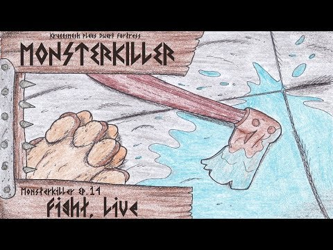 Kruggsmash Plays Dwarf Fortress: Monsterkiller Ep.14 - Fight, Live