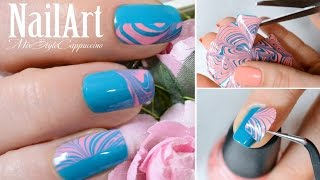 ЛАЙФХАК - Водный Дизайн Ногтей без опускания пальчиков в воду / Water Marble Nail Art