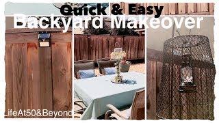 QUICK and EASY MINIMALIST BACKYARD MAKEOVER BONUS DIY LANTERN Feat SUAOKI Solar Lights