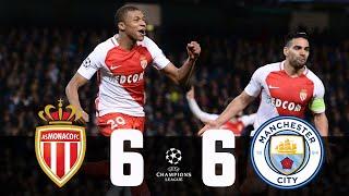 AS Monaco vs Manchester City(6-6agg) UCL2017 last 16 1,2 leg \/All Goals \\u0026 Highlights