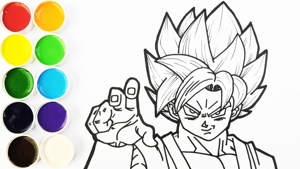 Como Dibujar Y Colorear A Goku Super Saiyajin Dios Azul Dibujos