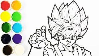 Como Dibujar y Colorear a Goku Super Saiyajin Dios Azul - Dibujos Para Nios  FunKeep
