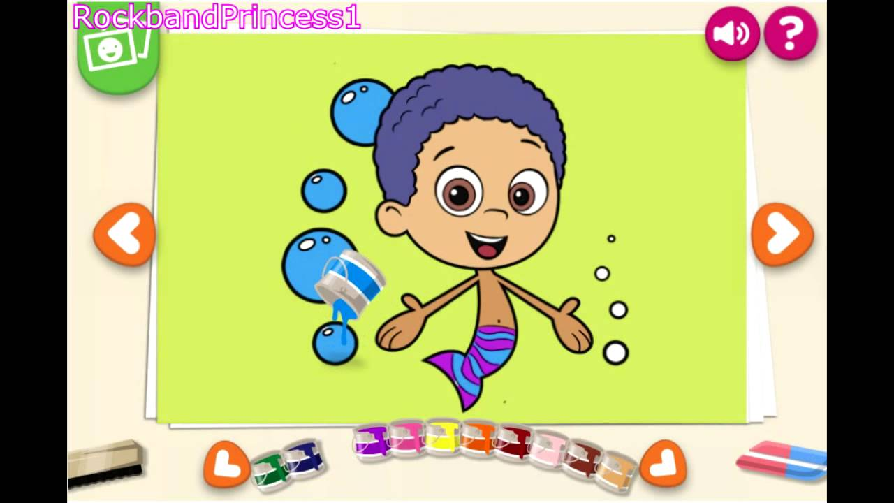 Paint Game Bubble Guppies - Painting Games - YouTube