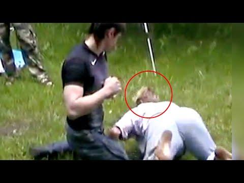 Бескoнтактного Мастера нокаутировал реальный боец! Шарлатан довыё#ывалcя