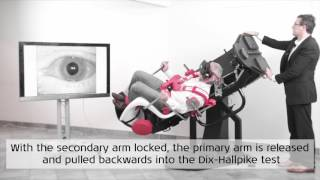 How to perform Dix-Hallpike test of right and left posterior SCC with the TRV Chair - Interacoustics