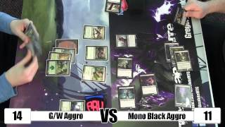 Mtg - Standard Gameplay: G/w Aggro Vs Mono Black Aggro  W/ Sideboard Commentary