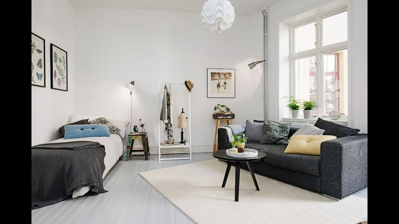 Delightful one room studio apartment in gothenburg inspiring brightness and space hd