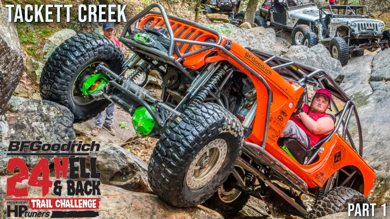JEEPS TACKLE TACKET CREEK - 24 Hell and Back Trail Challenge Part 1 | TRR 35