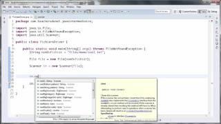 JAVA (Intermédiaire) - 71 - Lire le contenu d'un fichier avec Scanner (Partie 1/2)