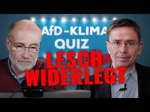 Harald Lesch und das AfD-Klimaquiz - Kritik