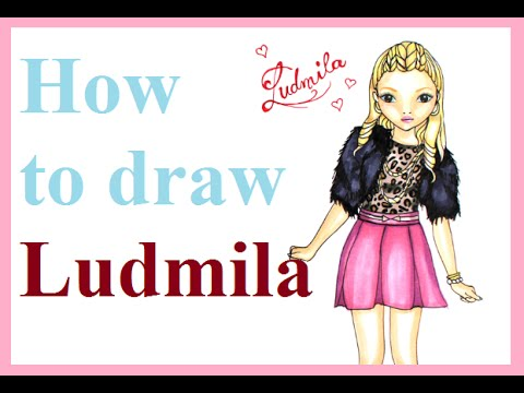 Topmodel Malbuch | Ludmila malen || Foxy Draws speaks russian