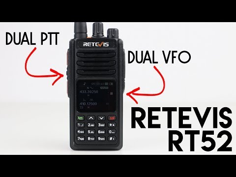 Retevis RT52 Dual Band, Dual Mode, Dual PTT Radio Test!