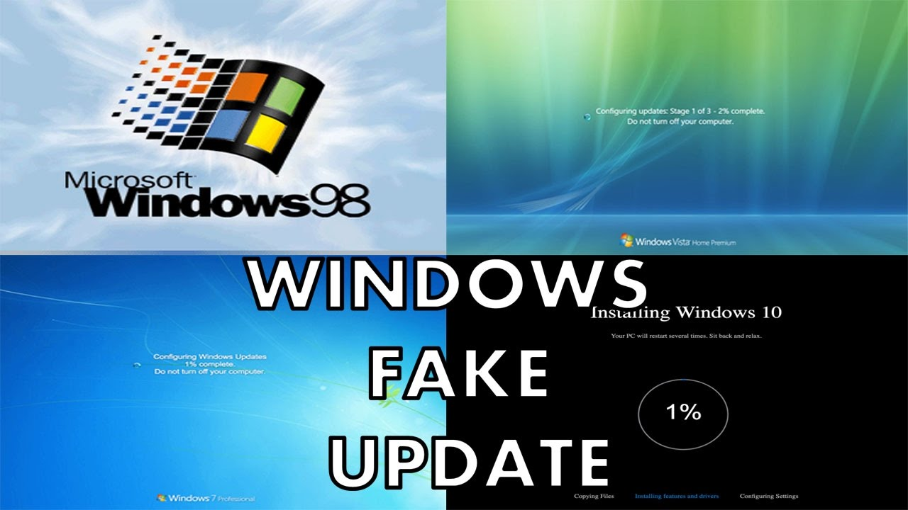 Prank Your Friends By Windows Fake Update