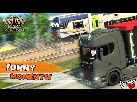Euro Truck Simulator 2 Multiplayer | Funny Moments & Crash Compilation | #55