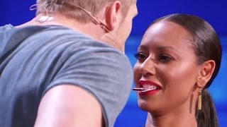 Download Sexy Magician Tries to Kiss Mel B Using His Tricks! Mp3 and Videos