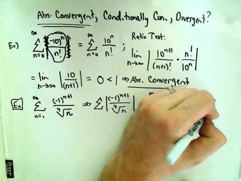 Absolute Convergence, Conditional Convergence and Divergence