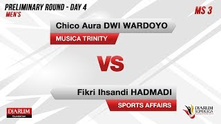 PRELIMINARY ROUNDS | MS3 | CHICO (MUSICA TRINITY) VS FIKRI (SPORTS AFFAIRS)